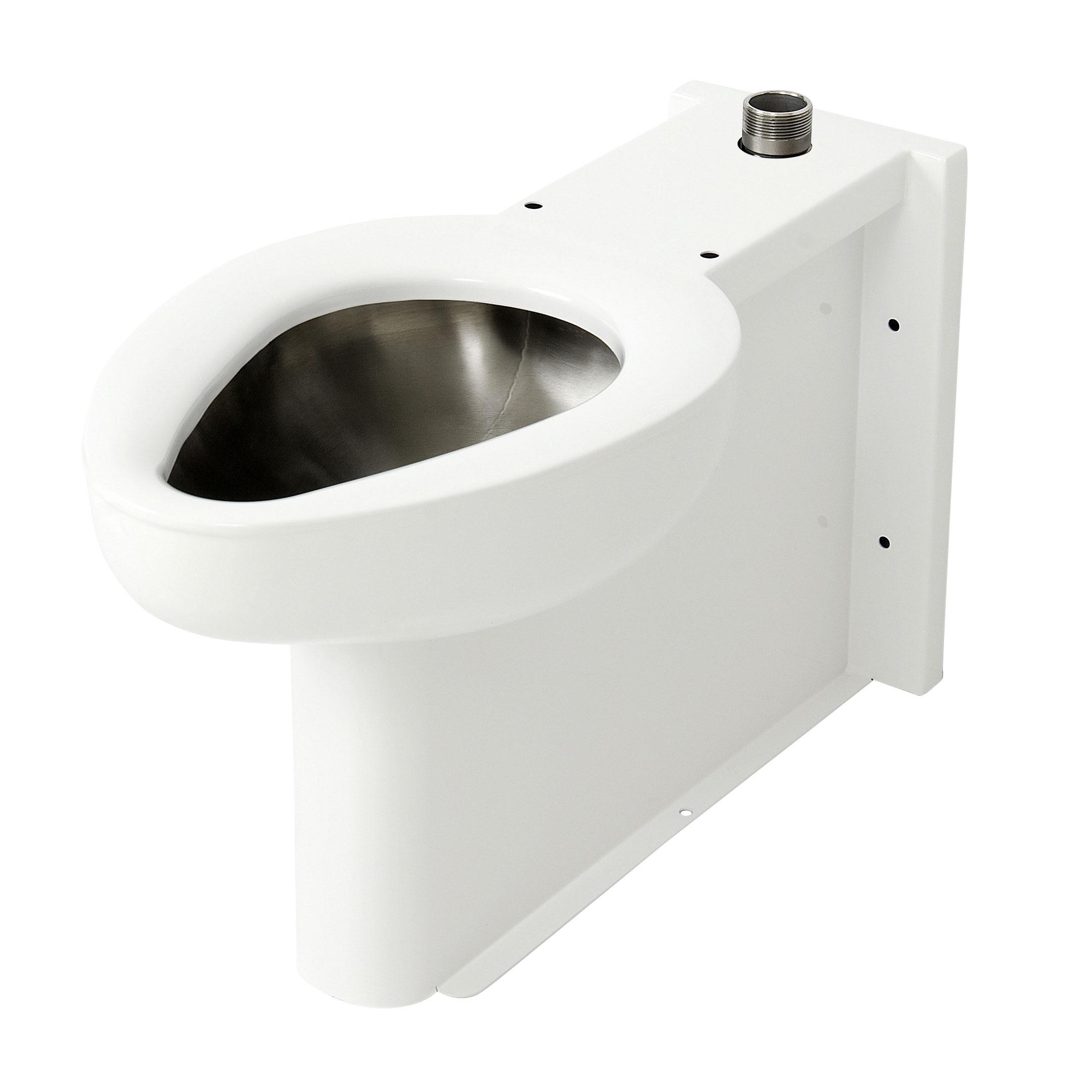 2115 - On-Floor, Wall Waste, Siphon Jet Stainless Steel Toilet ...