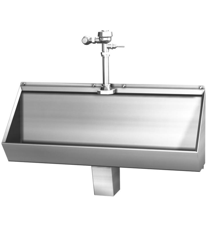 Trough Sink Stainless Steel : 2174 - Stainless Steel Trough Urinal 4 Foot - Acorn Engineering