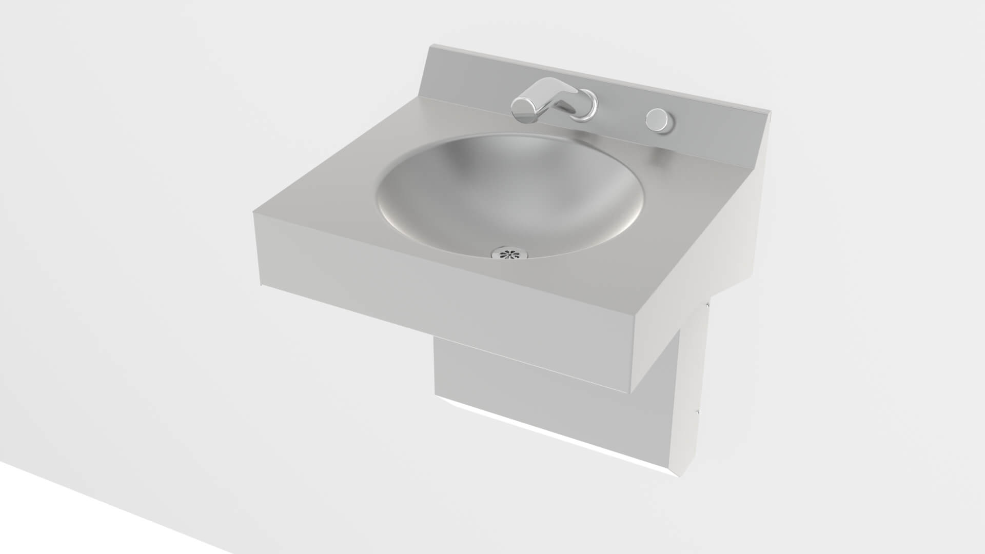 One Station Straight Front Stainless Steel Wash Basin - Acorn ...