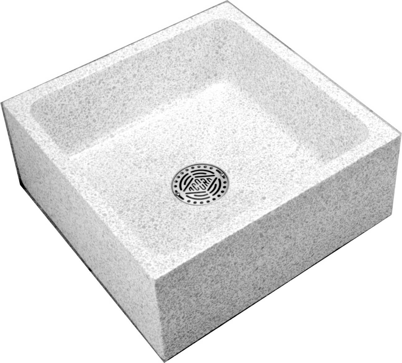 24 X 24 X 10 Height Reduce Height Terrazzo Mop Sink Acorn Engineering