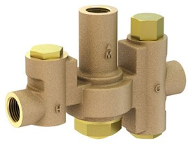 35.1 GPM, Emergency Fixture Thermostatic Mixing Valve, 3/4 Inch NPT Inlets and 1 Inch Outlet