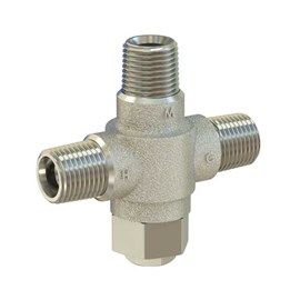 "1/2"" NPT Connection Rough Chrome Finish Brass Body Thermostatic Lavatory Tempering Valve"