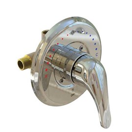Lever Handle, Temperature/Pressure Balancing Mixing Valve for Individual Showers