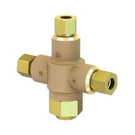 "3/8"" Compression Connection Brass Body Thermostatic Lavatory Tempering Valve"