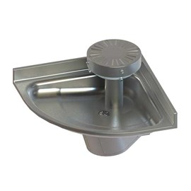 Two Station Corner Stainless Steel Wash Fountain with Contour Base