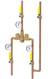 Brass Body Mixing  Valve Supply Fixture for Lavatory or Shower