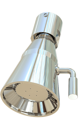 Option: Showerhead, Chrome Plated Brass with 2.5 GPM (9.7 LPM) Flow Control