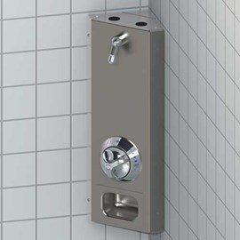 Corner Mount Stainless Steel Apex Shower
