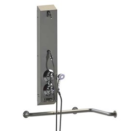 ADA Surface Mount Stainless Steel Apex Shower with Handheld