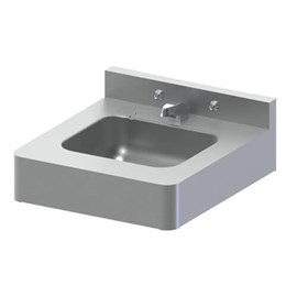 "20"" x 22"" Front Mount ADA Stainless Steel Lavatory with Rectangle Bowl Configured for Mounting Carrier"