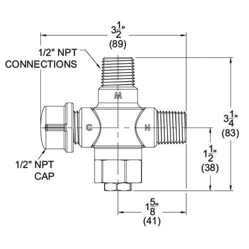 tempflow u00ae thermostatic zone valve - maintain hot water loop  zone temperature