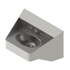 Ligature Resistant ADA Compliant Stainless Steel Security Lavatory with Oval Bowl
