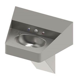 Ligature Resistant Front Access ADA Compliant Stainless Steel Security Lavatory with Oval Bowl