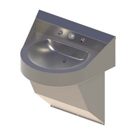 Ligature Resistant Front Access ADA Compliant 'D' Bowl Stainless Steel Security Lavatory
