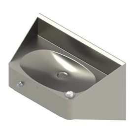 Ligature Resistant Rear Mounted Oval Bowl Stainless Steel Security Drinking Fountain