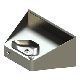 Ligature Resistant ADA Compliant Rear Mounted Multi-sided Bowl Stainless Steel Security Drinking Fountain
