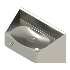 Ligature Resistant Front Mounted Oval Bowl Stainless Steel Drinking Fountain