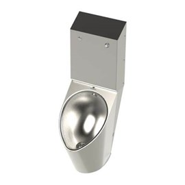 Ligature Resistant High Efficiency Front-Mounted Stainless Steel Urinal