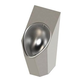 Ligature Resistant High Efficiency Rear-Mounted Stainless Steel Security Urinal