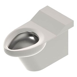 Ligature Resistant Stainless Steel Siphon Jet Rear Mount Toilet