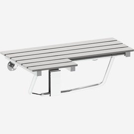 Left Hand Phenolic Folding Shower Seat