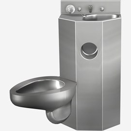 18 Inch Comby with Toilet and Multi-Sided Lavatory Bowl