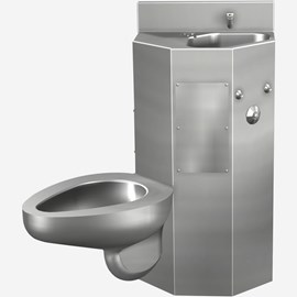 Front Access, 18 Inch Comby with Toilet and Multi-Sided Lavatory Bowl