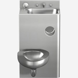 "20"" Toilet-Lavatory Comby with Rectangular Lavatory Bowl"