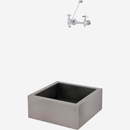 "24"" x 24"" x 10"" Stainless Steel Security Mop Sink"