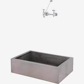 "36"" x 24"" x 10"" Stainless Steel Security Mop Sink"