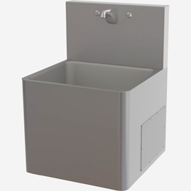 "Front Access, 21"" x 21"" Stainless Steel Security Service Sink"