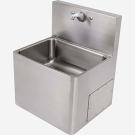 "Front Access, 24"" x 21"" Stainless Steel Security Service Sink"