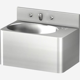 "20"" Security Stainless Steel Lavatory with Oval Bowl for Rear Mount (Chase) Application"