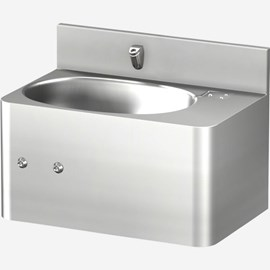 "20"" Front Access Security Stainless Steel Lavatory with Oval Bowl"