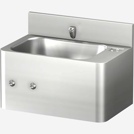 "20"" Front Access Security Stainless Steel Lavatory with Rectangular Bowl"