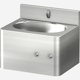 "18"" Front Access Security Stainless Steel Lavatory with Oval Bowl"