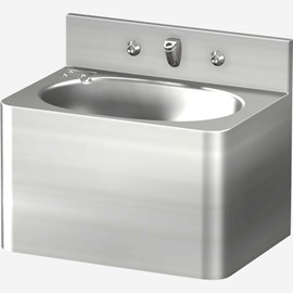 "18"" Security Stainless Steel Lavatory with Oval Bowl for Rear Mount (Chase) Application"