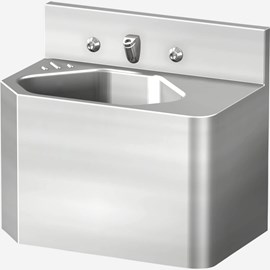 "18"" Security Stainless Steel Lavatory with Multi-Sided Bowl for Rear Mount (Chase) Application"