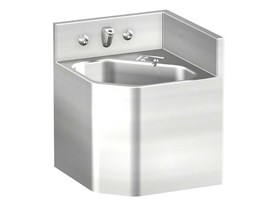 "13"" Corner Security Stainless Steel Lavatory for Rear Mount Left Chase Application"