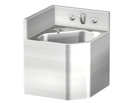 "13"" Corner Security Stainless Steel Lavatory for Rear Mount Right Chase Application"