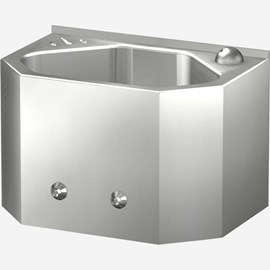 "15"" Economy Security Stainless Steel Lavatory for Rear Mount"