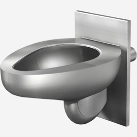 Off-Floor, Compact Blowout Jet Stainless Steel Security Toilet for Rear Mount (Chase) Application