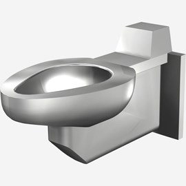 Off-Floor, Siphon Jet Stainless Steel Security Toilet for Rear Mount (Chase) Application