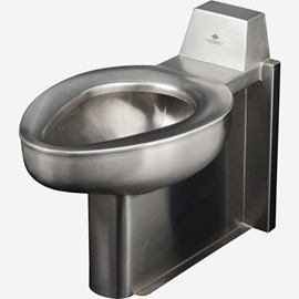On-Floor, Wall Waste, Blowout Jet Stainless Steel Security Toilet for Rear Mount (Chase) Application