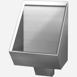 Blowout Jet Stainless Steel Security Urinal for Rear Mount (Chase) Application
