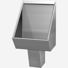 Washout Stainless Steel Security Urinal for Rear Mount (Chase) Application