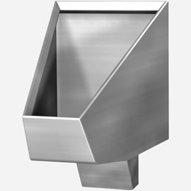 ADA Blowout Jet Stainless Steel Security Straddle Type Urinal for Rear Mount (Chase) Application