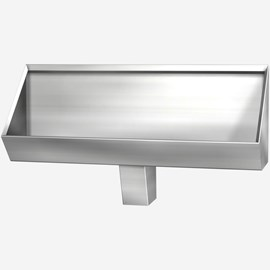 Four Foot Stainless Steel Security Trough Urinal for Rear Mount (Chase) Application