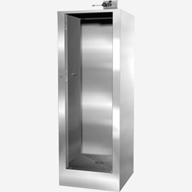 "Front Access, 35-3/4"" x 35-3/4"" x 88"" Height Stainless Steel Security Cabinet Shower"