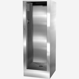 "36"" x 36"" x 88"" Height Stainless Steel Security Cabinet Shower for Rear Mount (Chase) Application"